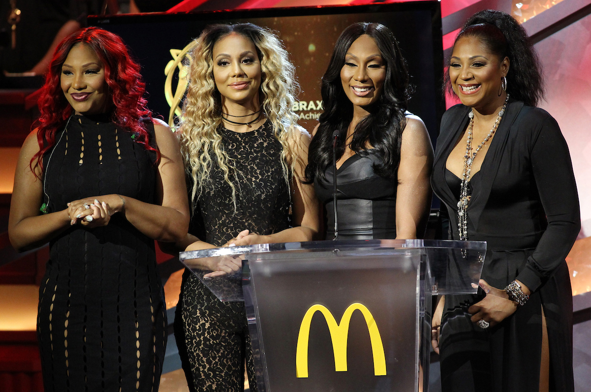 The Braxton Sisters, left Traci, Tamar, Towanda and Trina attend the 13th Annual McDonald's 365 Black Awards at the Ernest Moral Convention Center in New Orleans, LA on Friday, July 1, 2016.