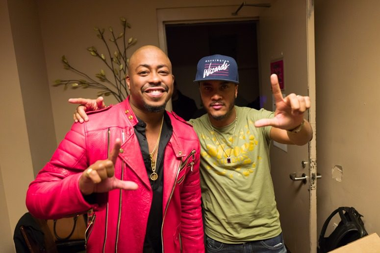 Raheem DeVaughn and Radio One's DJ QuikSilva Show Some DC Love At The 2016 Raheem Devaughn and Friends Benefit Holiday Concert. Photo Credit: Tony Mobley for The LoveLife Foundation