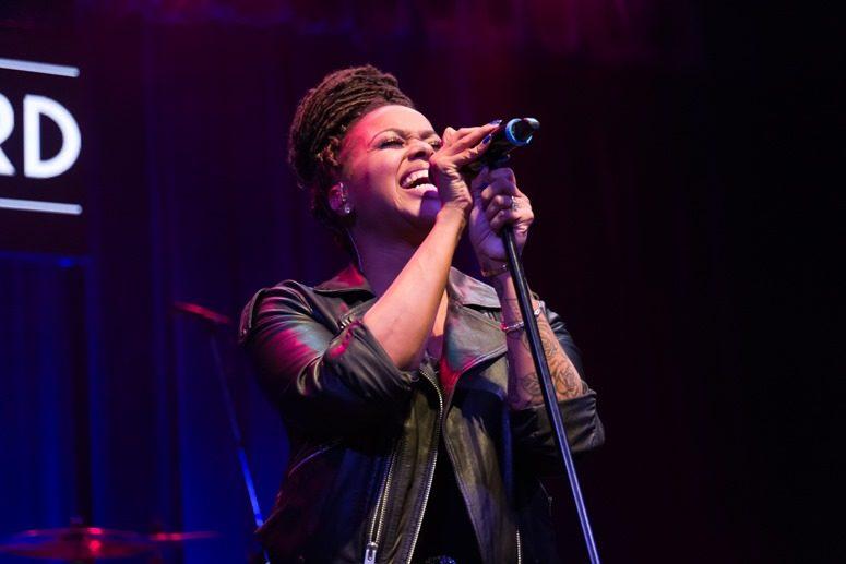 Chrisette Michele slays the stage at The 2016 Raheem DeVaughn and Friends Benefit Holiday Concert. Photo Credit: Tony Mobley for The LoveLife Foundation