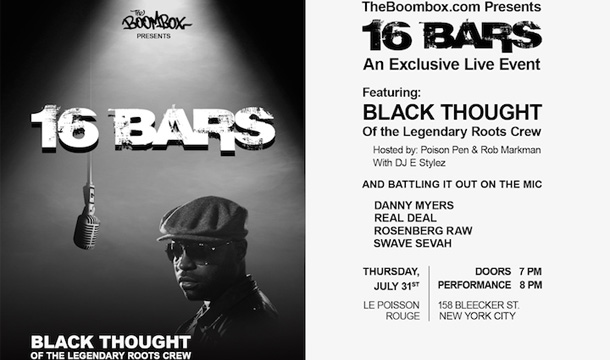 RSVP NOW: 16 Bars – An Exclusive Live Event Ft. Black Thought of The Roots