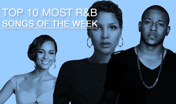 Toni Braxton & Babyface and Alicia Keys Battle, Eric Bellinger Owns Two Spots on the Top 10 Most Popular R&B Songs of the Week