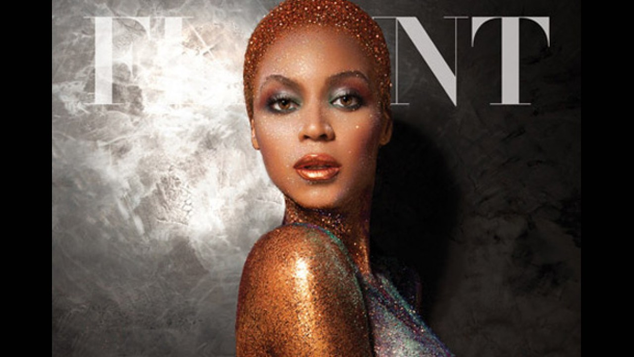 Amara La Negra Naked beyonce naked in glitter & paint for flaunt magazine cover