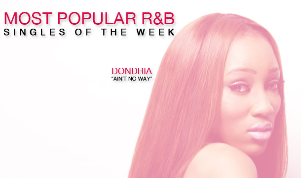 Dondria's Christmas Single Leads Top 10 Most Popular R&B Singles  of the Week