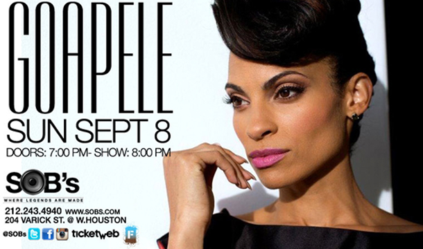 Win Tickets to See Goapele Live in Concert at S.O.Bs in NYC