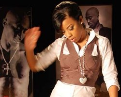 Keyshia Cole Honors Tupac At 'Playa Cardz..' Video Shoot