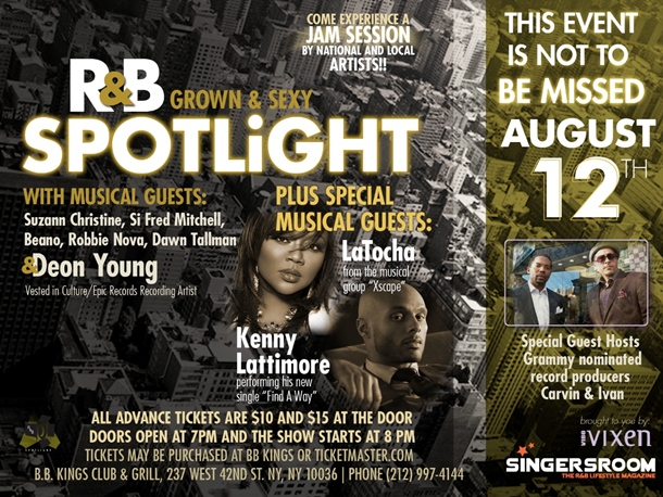 Latocha, Kenny Lattimore Tapped For Next Edition of R&B Spotlight Slated For Aug 12th