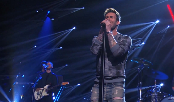 Maroon 5's V Album Projections, Plus 'America's Got Talent' Performance
