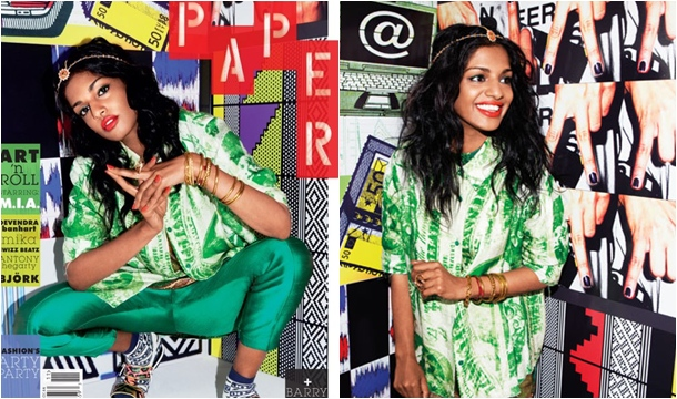 M.I.A Covers Paper Mag, Talks Love