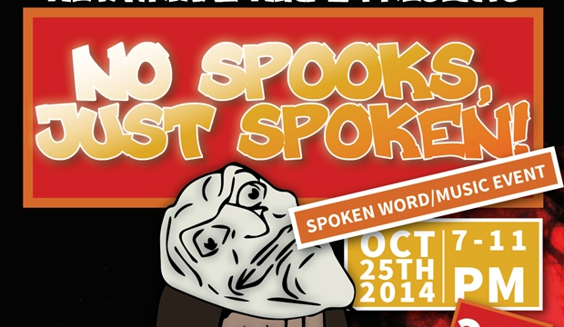 Pre-Halloween: No Spooks, Just Spoken – A Spoken Word and Music Event (Oct 25)