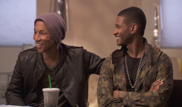 Pharrell Williams Arrives On 'The Voice,' Mentors 'Eclectic' Team Usher