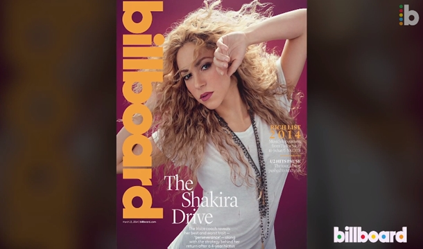 Shakira Covers Billboard, Drive in BTS Video and Readies 'The Voice UK' Performance