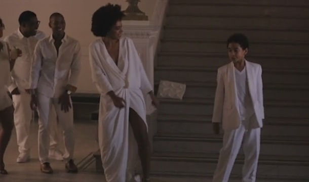 Solange and Son Juelz Rock Out to 'No Flex Zone' During Wedding Reception (Video)