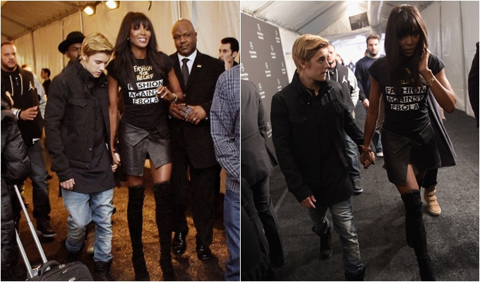Spotted: Are Justin Bieber and Naomi Campbell An Item?