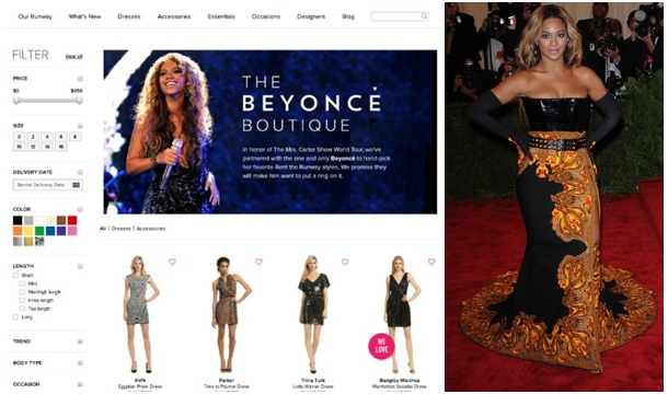 Rent Fashions Approved by Beyonce via 'The Beyonce Boutique'