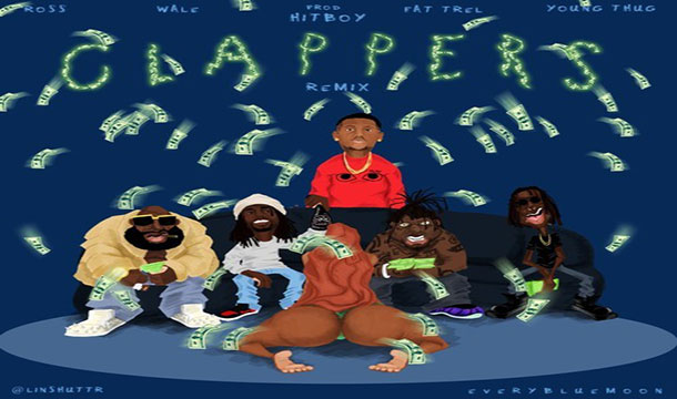 Wale – Clappers Remix Ft. Rick Ross, Fat Trel & Young Thug