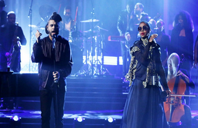 The Weeknd & Lauryn Hill Make Up For Hill's Grammy No-Show On 'Jimmy Fallon' (Video)
