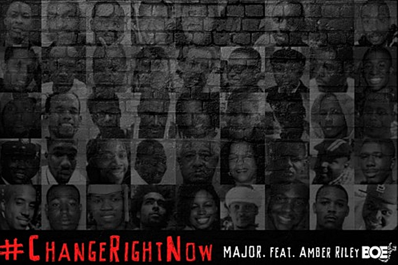 Singer MAJOR. Enlists Amber Riley To Call For '#ChangeRightNow'