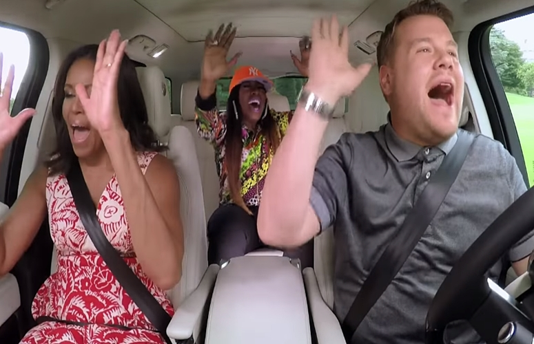 First Lady Michelle Obama Jams Out With James Corden & Missy Elliott In 'Carpool Karaoke'