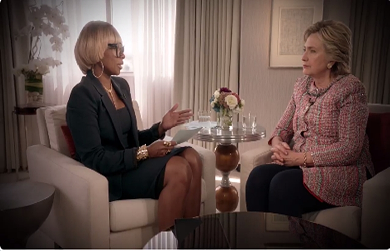 Mary J.Blige Sits Down With Presidential Candidate Hillary Clinton, Sings About Police Brutality