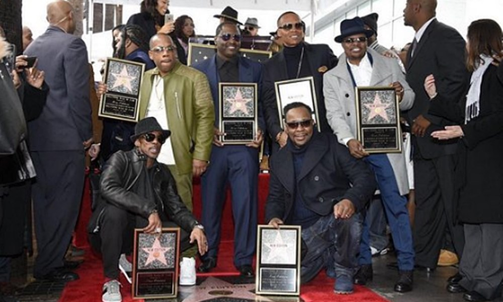 New Edition Receives Star On Hollywood Walk Of Fame