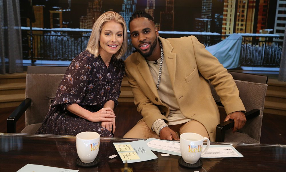 Jason Derulo co-hosts LIVE with Kelly; Talks Music and Shows Off His Dance Moves