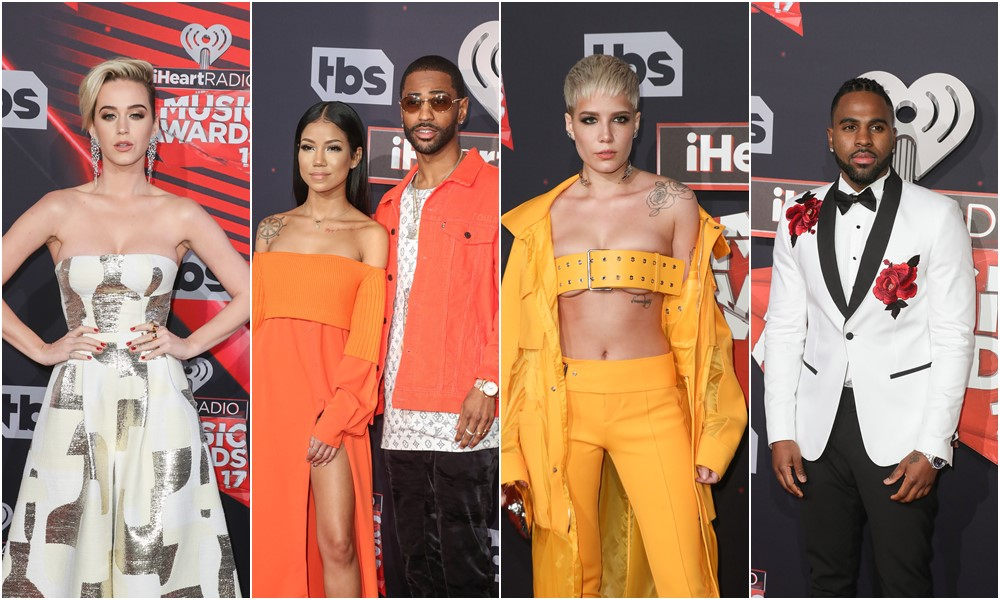 RED CARPET: Katy Perry, Jhene Aiko, Jason Derulo, Halsey, and More Attend 2017 iHeartRadio Music Awards