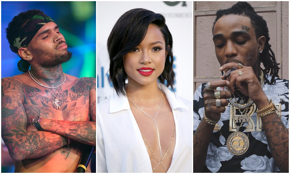 Chris Brown Allegedly Feels Some Type Of Way About Karrueche and Quavo's Relationship