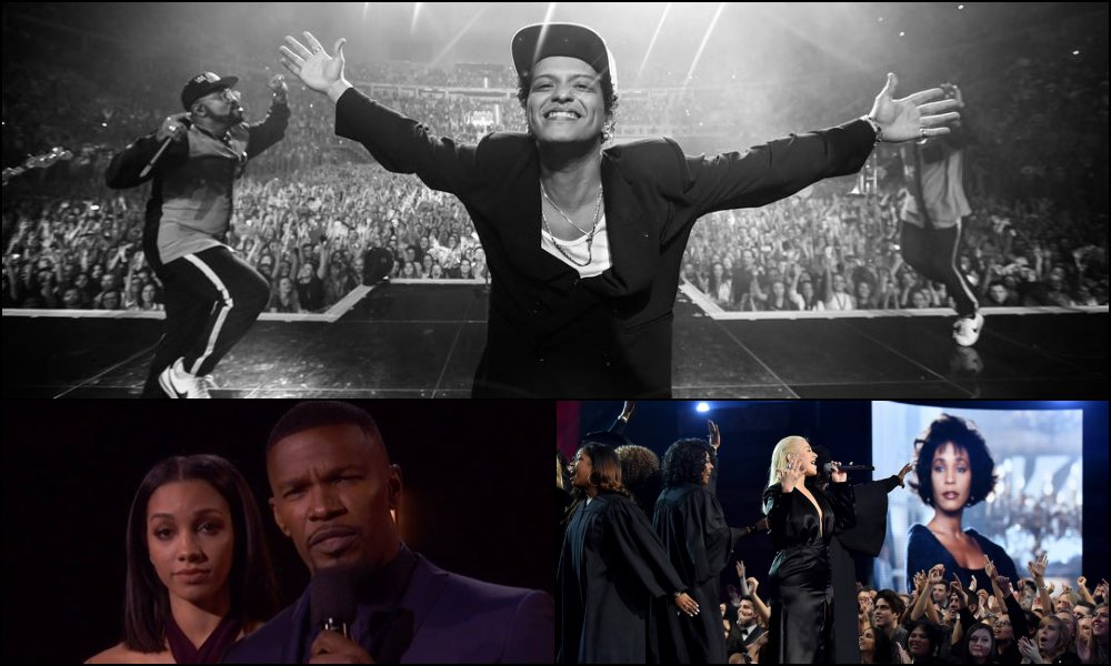 AMAs RECAP: Bruno Mars Wins Big, Jamie Foxx Honors First Responders, Christina Aguilera Sours (Full Winners List)