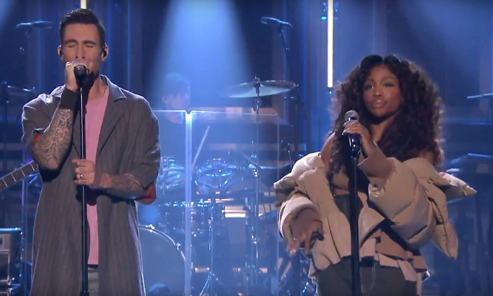 "SZA Joins Maroon 5 For ""What Lovers Do"" on The Tonight Show"