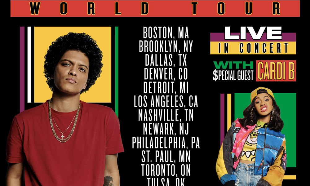 Bruno Mars Reveal Dates For '24K Magic World Tour' Finale