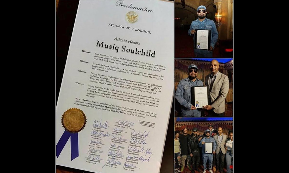 Atlanta Dubs an Official Holiday For Musiq Soulchild