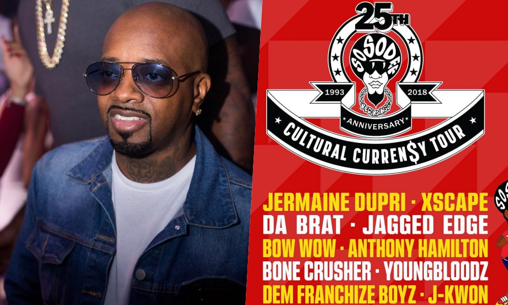 "Jermaine Dupri Announces So So Def 25th Anniversary ""CULTURAL CURREN$Y TOUR"""