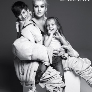 Christina Aguilera Pose For 'Harper's Baazar' With her Kids