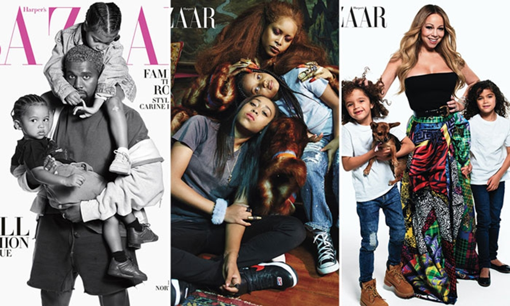 Erykah Badu, Kanye West, Mariah Carey & More Pose For 'Harper's Baazar' With Their Kids