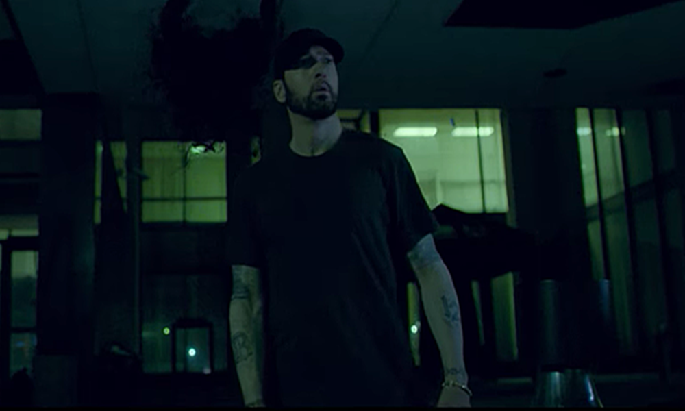 Eminem Is Stalked By Media In 'Fall' Video