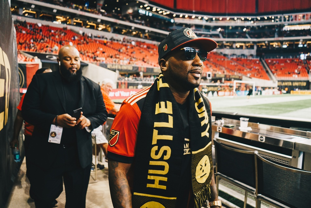 Jeezy Hammers Golden Spike At Sold Out Atlanta United Game