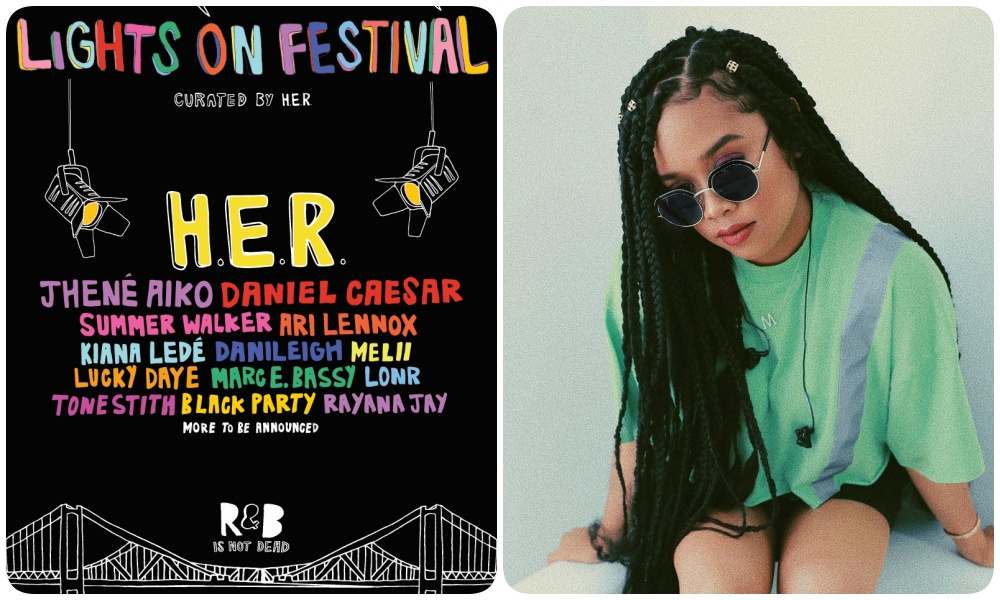 H.E.R. Announces Inaugural Lights On Festival; Performers Include Jhené Aiko, Daniel Caesar, Summer Walker, Kiana Ledé, More
