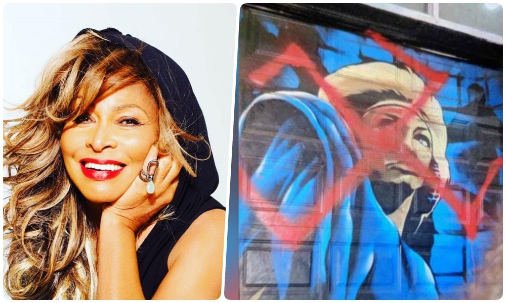 Tina Turner Mural Defaced With Swastika Sign